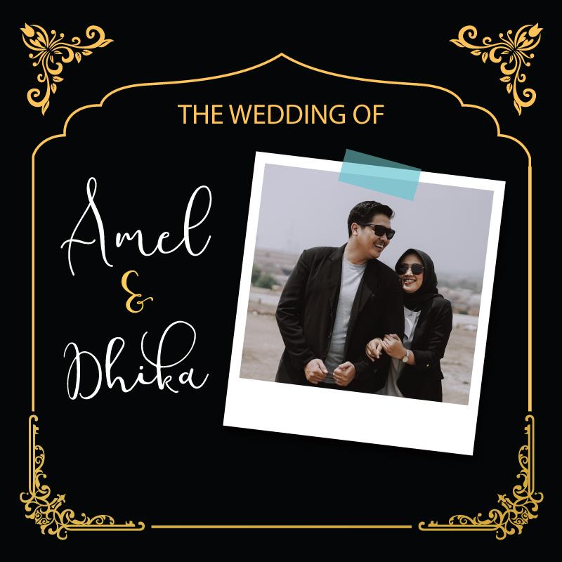 Web Invitation Amel & Dhika