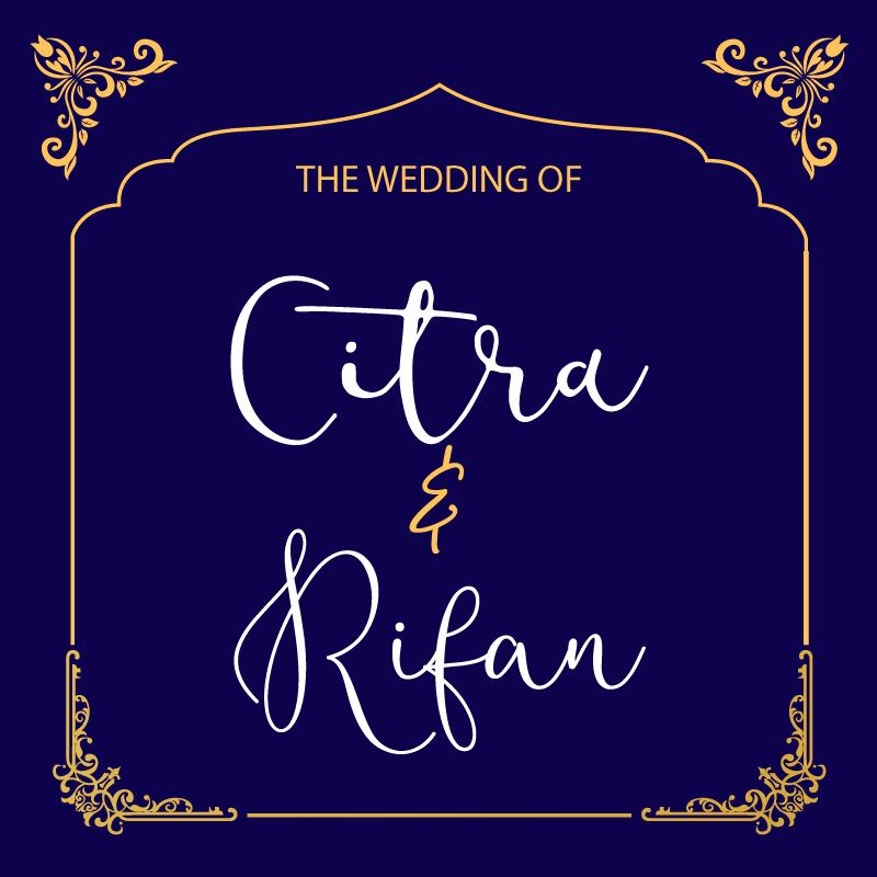 Web Invitation Citra & Rifan
