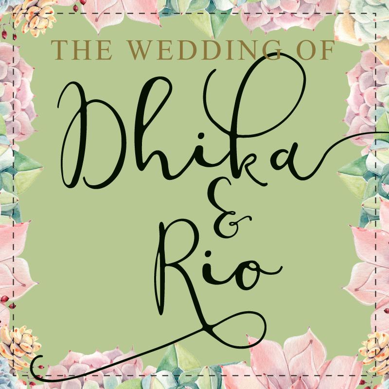 Web Invitation Dhika & Rio