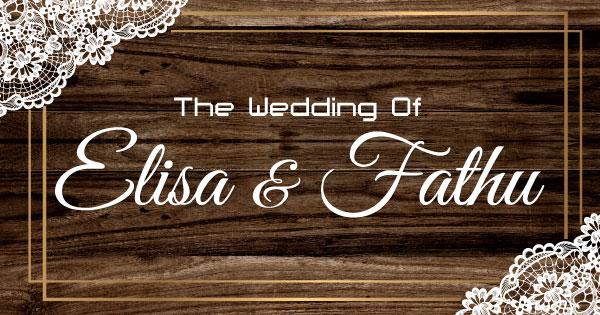 Web Invitation Elisa & Fathu