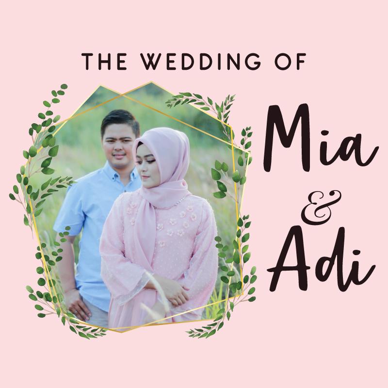 Web Invitation Mia & Adi