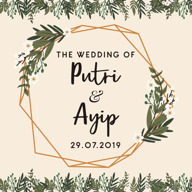 Web Invitation Putri & Ayip