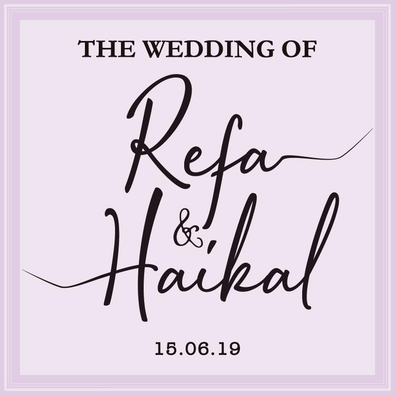 Web Invitation Refa & Haikal